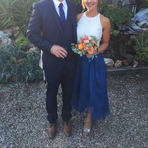 Custom High-low bridesmaid skirt